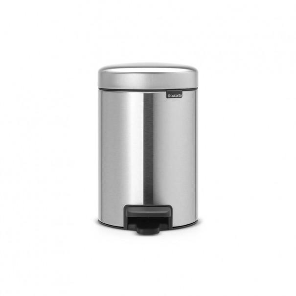 Brabantia Κάδος πεντάλ matt steel 3 lt σειρά New icon