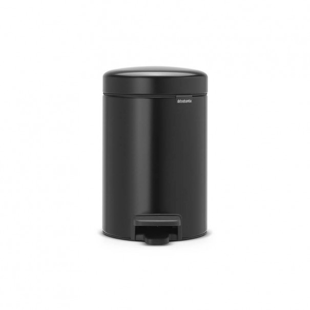 Brabantia Κάδος πεντάλ matt black 3 lt σειρά New icon