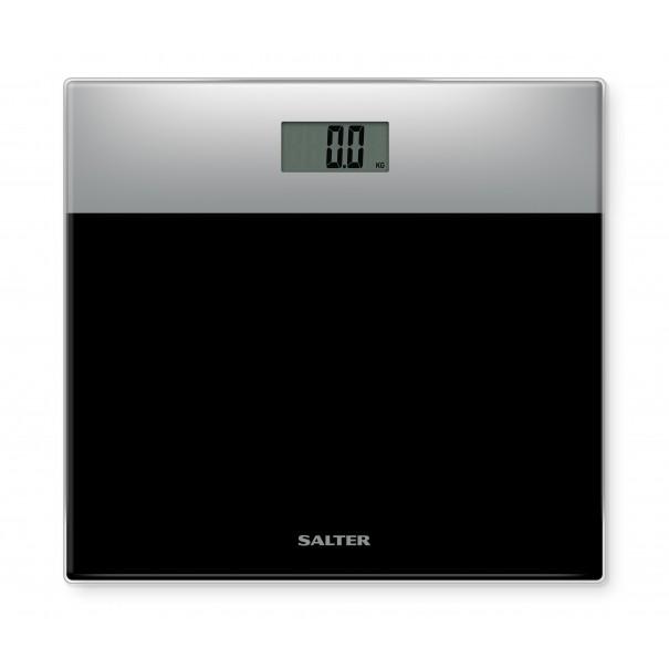 Salter Ηλεκτρονική ζυγαριά γυάλινη-μαύρη/ασημί